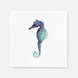 Seahorse white decorative paper napkins purple paper napkins