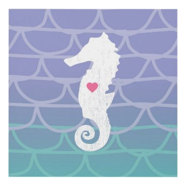 Art Themed Seahorse with heart Print