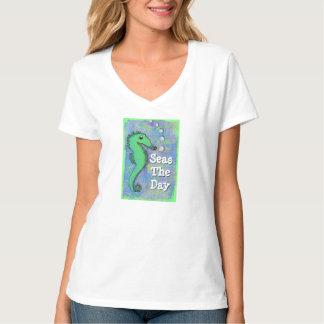 "Seahorse Woman's Shirt ""Seas The Day"""