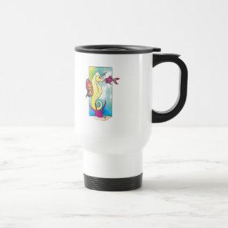 seahorse y pescados de la mariposa tazas de café
