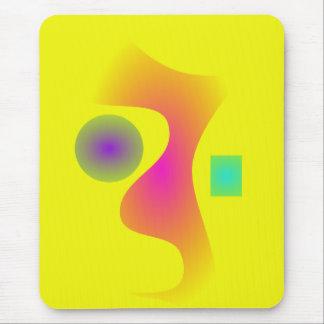 Seahorse Yellow Background Mousepad