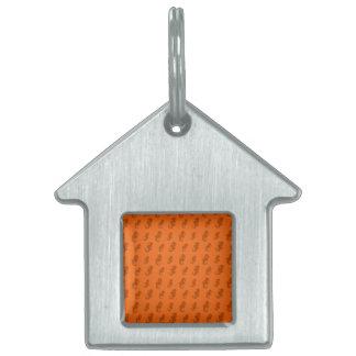 Seahorses anaranjados placa de mascota