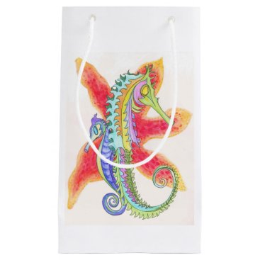 Beach Themed seahorses and starfish gift bag