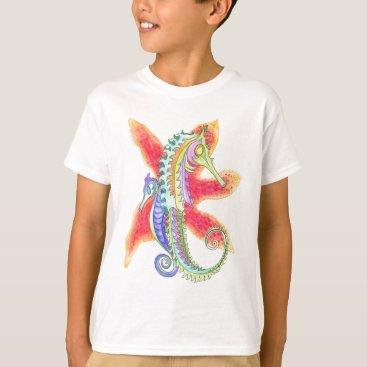 Beach Themed Seahorses and starfish T-Shirt