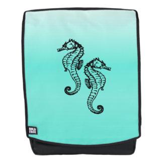 Seahorses Aqua Backpack