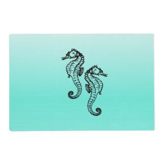 Seahorses Aqua Placemat