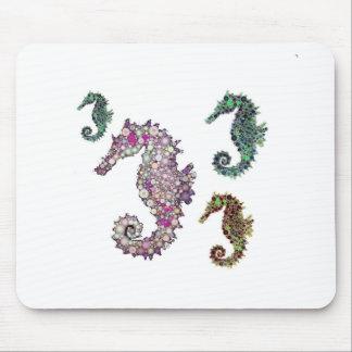 Seahorses Art by LeahG Mousepad