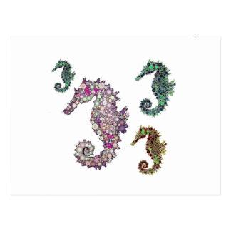 Seahorses Art by LeahG Postcard