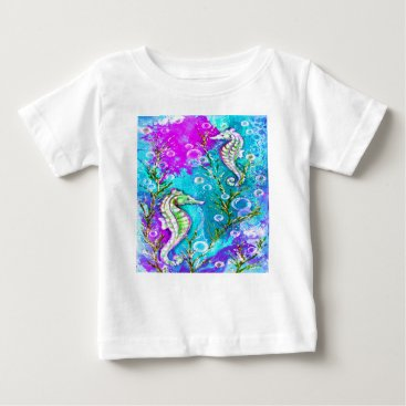 Beach Themed Seahorses Baby T-Shirt