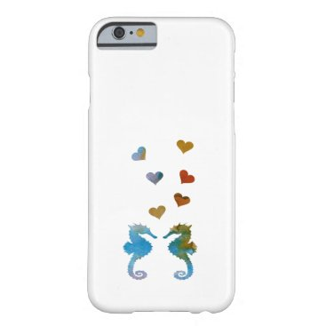 Beach Themed Seahorses Barely There iPhone 6 Case