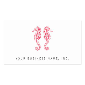 Seahorses Double-Sided Standard Business Cards (Pack Of 100)