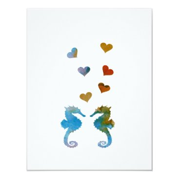 Beach Themed Seahorses Card