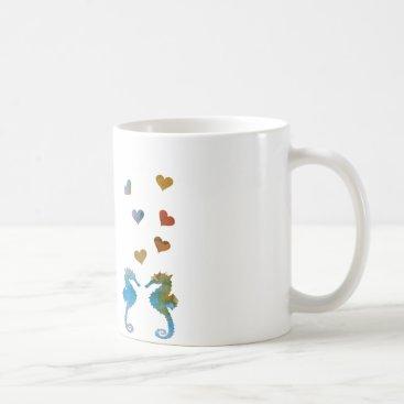 Beach Themed Seahorses Coffee Mug