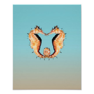 Seahorses Courting Posters