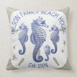 Seahorses de la casa de playa del apellido cojín