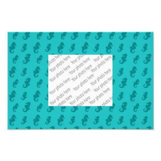 Seahorses de la turquesa
