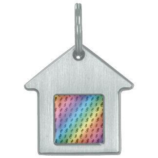 Seahorses del arco iris placas mascota