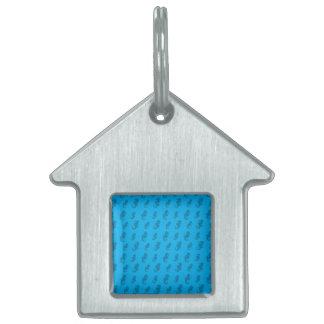 Seahorses del azul de cielo placas mascota