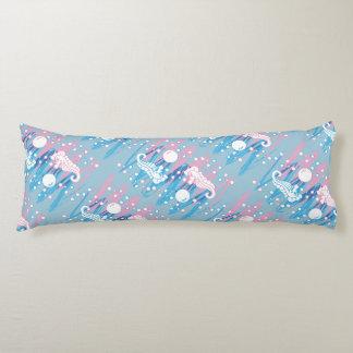 Seahorses del rosa en colores pastel y del azul almohada