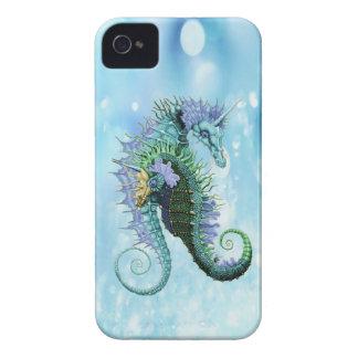 Seahorses elegantes del unicornio iPhone 4 protectores