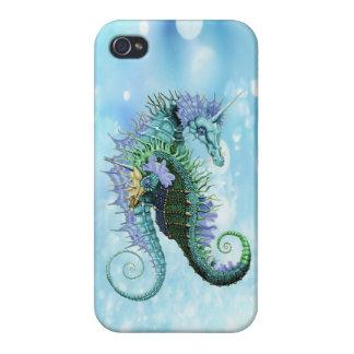 Seahorses elegantes del unicornio iPhone 4/4S fundas