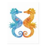 Seahorses en amor postal