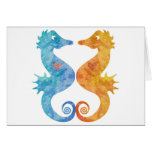 Seahorses en amor tarjetón