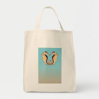 Seahorses Entwined Tote Bag