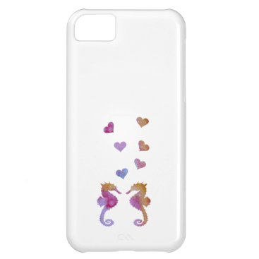 Beach Themed Seahorses iPhone 5C Case