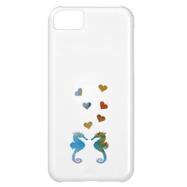 Beach Themed Seahorses iPhone 5C Cover