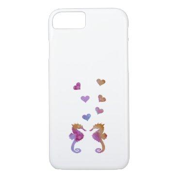 Beach Themed Seahorses iPhone 7 Case