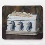Seahorses jewellry box mousepads