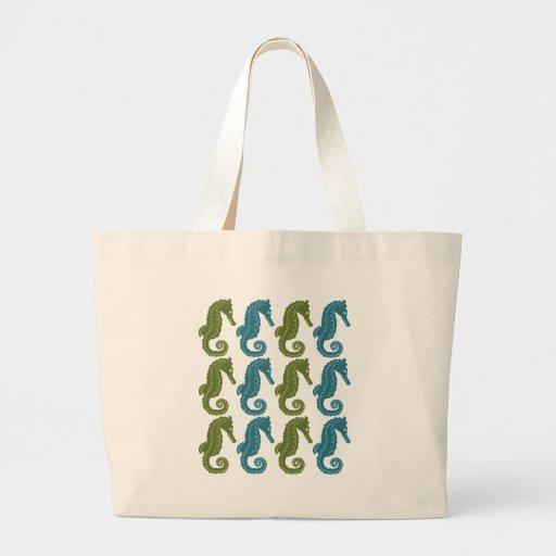 Seahorses Large Tote Bag