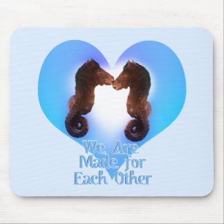 Seahorses Made For Each Other Mousepads