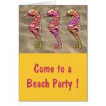 Seahorses on the Sand Card