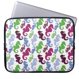 Seahorses Pattern Nautical Beach Theme Gifts Laptop Sleeve