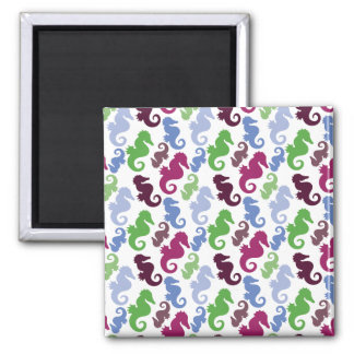 Seahorses Pattern Nautical Beach Theme Gifts Refrigerator Magnet