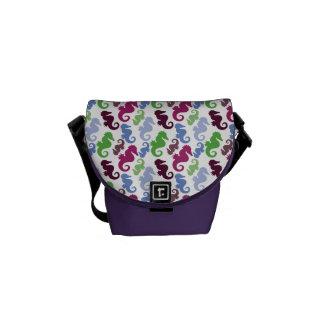 Seahorses Pattern Nautical Beach Theme Gifts Messenger Bag