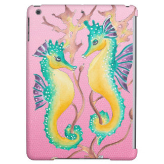 seahorses pink stained glass case for iPad air