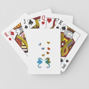 Beach Themed Seahorses Playing Cards
