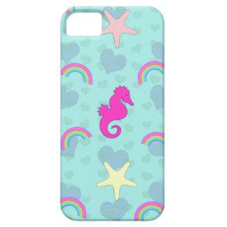 Seahorses, Rainbows and Starfish Design iPhone SE/5/5s Case