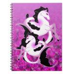 Seahorses rosados de la perla cuadernos