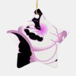 Seahorses rosados de la perla ornaments para arbol de navidad