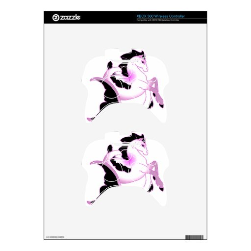 Seahorses rosados de la perla mando xbox 360 skins