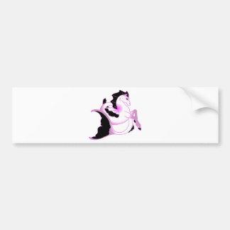 Seahorses rosados de la perla pegatina para auto