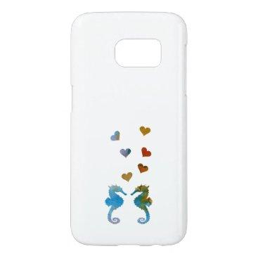 Beach Themed Seahorses Samsung Galaxy S7 Case