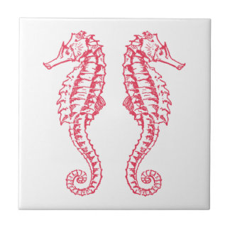 Seahorses Small Square Tile