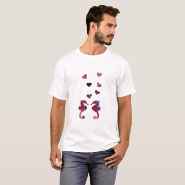 Beach Themed Seahorses T-Shirt