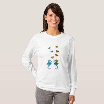 Beach Themed Seahorses T-Shirt