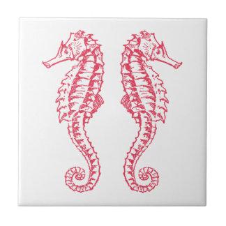 Seahorses Ceramic Tile